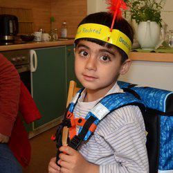 Die Schulranzen-Aktion 2016 des Deutschen Kinderhilfswerkes: Schulranzen, gefüllt mit Heften, Schreibutensilien, Büchern und Sportbeuteln, wurden bereits in Weimar und Erfurt verteilt.