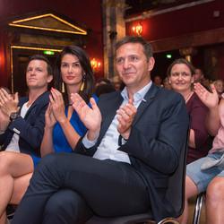 Das Publikum, mit dabei auch Botschafterin Miriam Mack und Bundesgeschäftsführer Holger Hofmann, war begeistert.